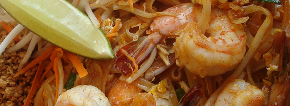 Our signature dish, Shrimp Pad Thai